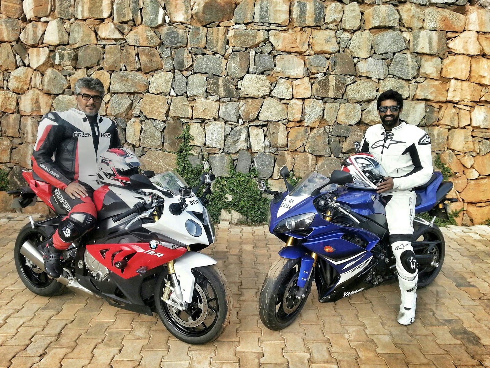 Photo of Ajith on his Motor cycle diary