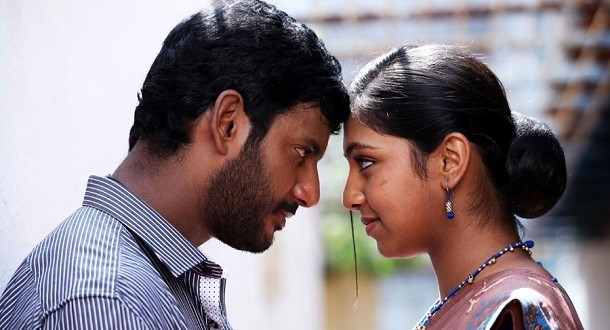 Lip lock for Vishal & Lakshmi? - Only Kollywood Naan Sigappu Manithan Lakshmi Menon Lip Lock