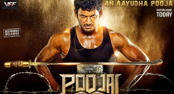 Vishal injured on the sets of Poojai - Only Kollywood Poojai Tamil Movie