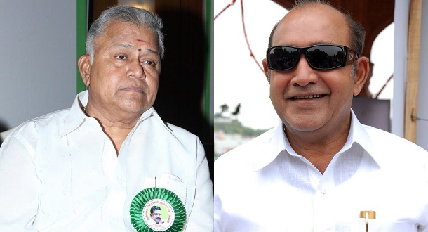 Photo of Radharavi, Vijayakumar and R Sundararajan on board Lingaa