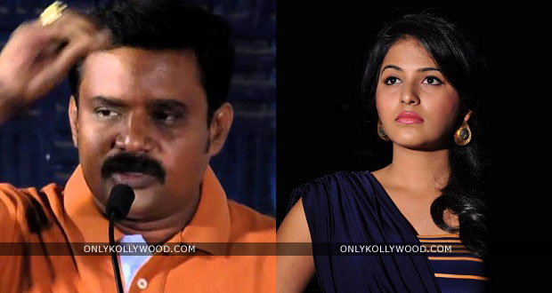 Photo of Director Kalanjiyam requests Anjali to return his money
