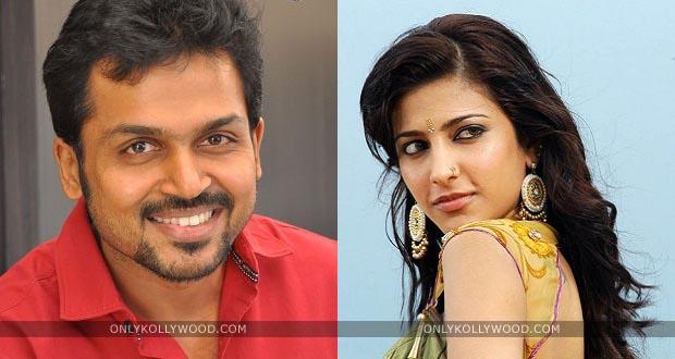 Photo of Karthi to romance Shruti Haasan in Gokul's 'Kashmora'?