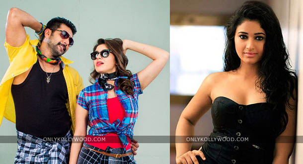 Photo of Jayam Ravi, Hansika, Poonam Bajwa together in a song for Romeo Juliet