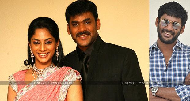 Photo of Vishal and Vikram's suggestion to Sriya Reddy