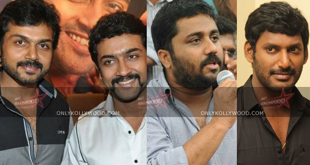 Photo of Suriya's family and Vishal contribute 65 lakhs to Hudhud relief fund