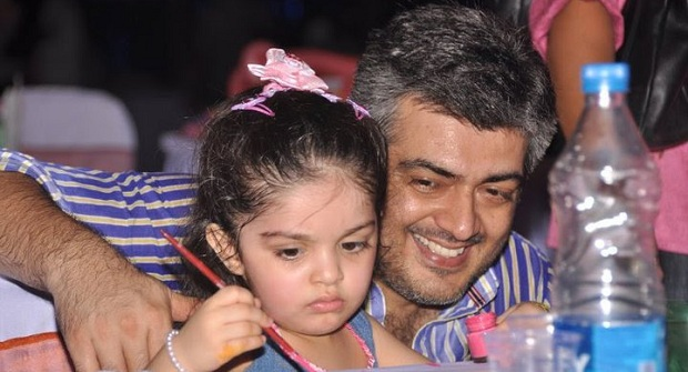Photo of Ajith spotted at daughter Anoushka's school function