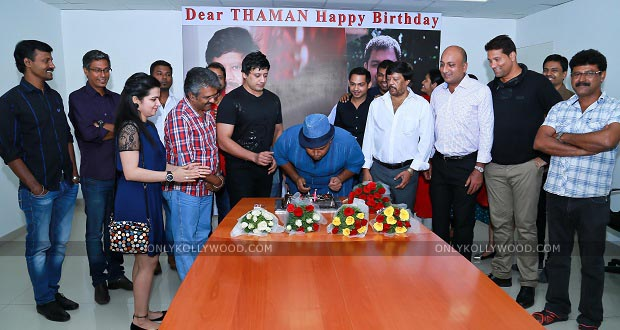 Photo of Music Director Thaman's Birthday Celebration With Saahasam Team