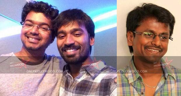 Photo of Vijay, Dhanush and AR Murugadoss for SJ Suryah