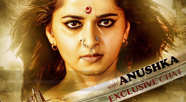 Photo of Anushka's interview for Rudhramadevi