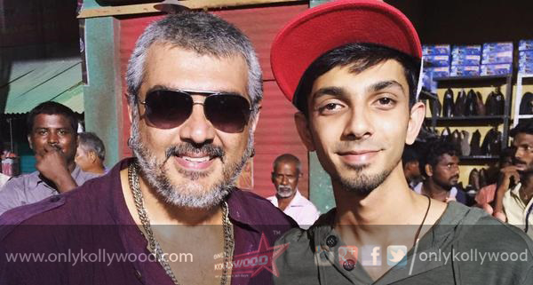 Photo of Anirudh excited to score for Ajith Kumar