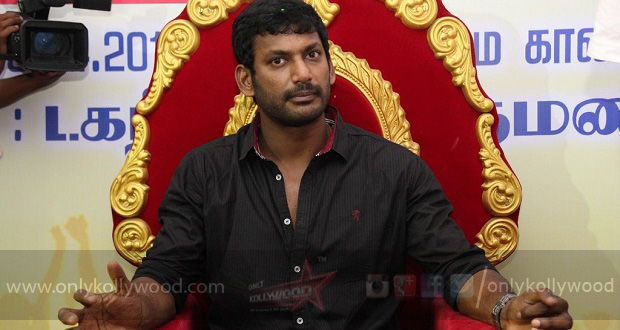 Photo of Vishal and team file nomination for TFPC elections