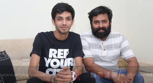 Photo of Anirudh croons for Santhosh Narayanan in Manithan
