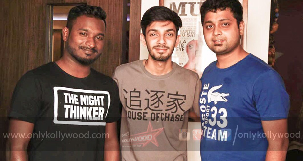 Photo of Anirudh's raging recording session for Nayanthara's Dora