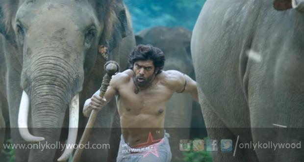 Climax of Arya's Kadamban shot with 70 elephants
