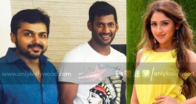 Sayyeshaa joins Vishal and Karthi in Karuppu Raja Vella Raja