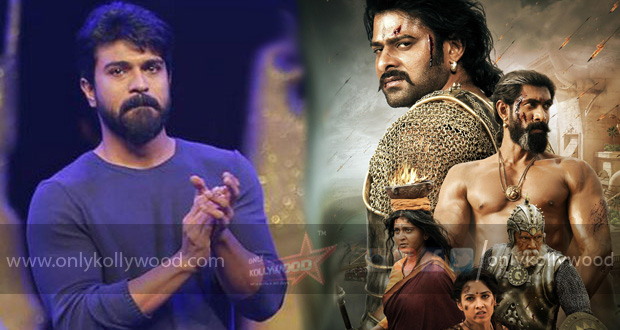 "Photo of ""Spellbound by the grandeur of SS Rajamouli's imagination,"" says Ram Charan"