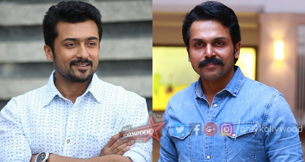 Photo of Karthi hints at Suriya's special cameo in Kadaikutty Singam