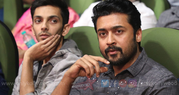 Thoroughly enjoyed Suriya's screen presence in the film says Anirudh