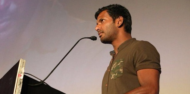 """Photo of """"Are we ready to face the consequences of digital era?"""" Vishal at Irumbu Thirai audio launch"""