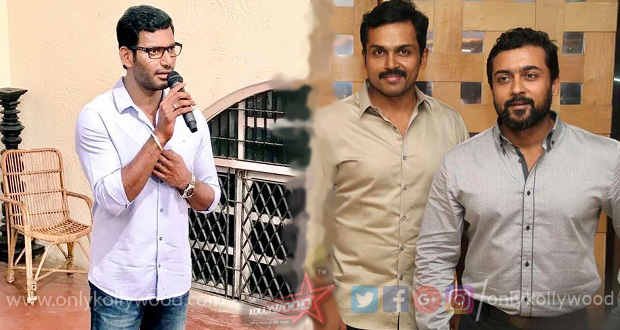 Photo of Suriya, Karthi and Vishal decide to remunerate their assistants from their own pocket