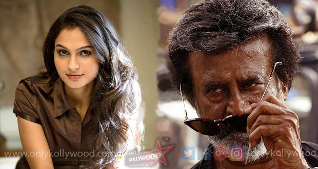 "Photo of ""Why should a heroine be considered big only because she has acted with Rajinikanth?"" asks Andrea"