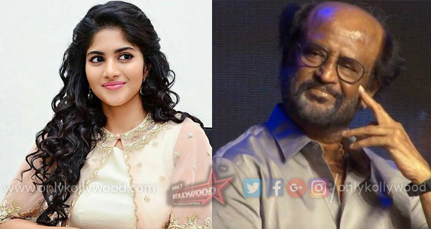Megha Akash reportedly on board Rajinikanth - Karthik Subbaraj film