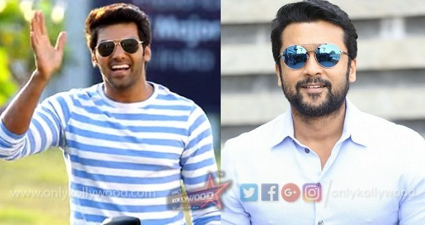 Arya on board KV Anand - Suriya's Suriya 37