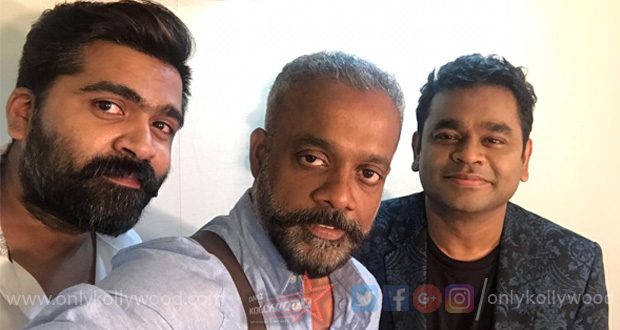 Photo of STR, AR Rahman and Gautham Menon team up again