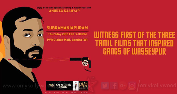 Photo of Anurag Kashyap to attend a special screening of Sasikumar's Subramaniapuram