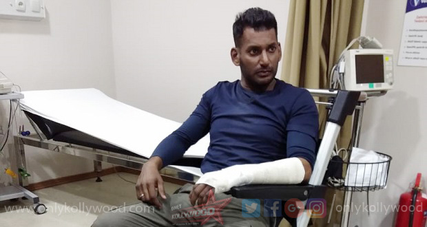 Photo of Vishal suffers severe injuries on the sets of his next with Sundar C