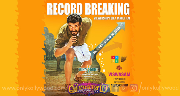 Photo of Thala Ajith's Viswasam becomes most viewed South Indian film in BARC impressions